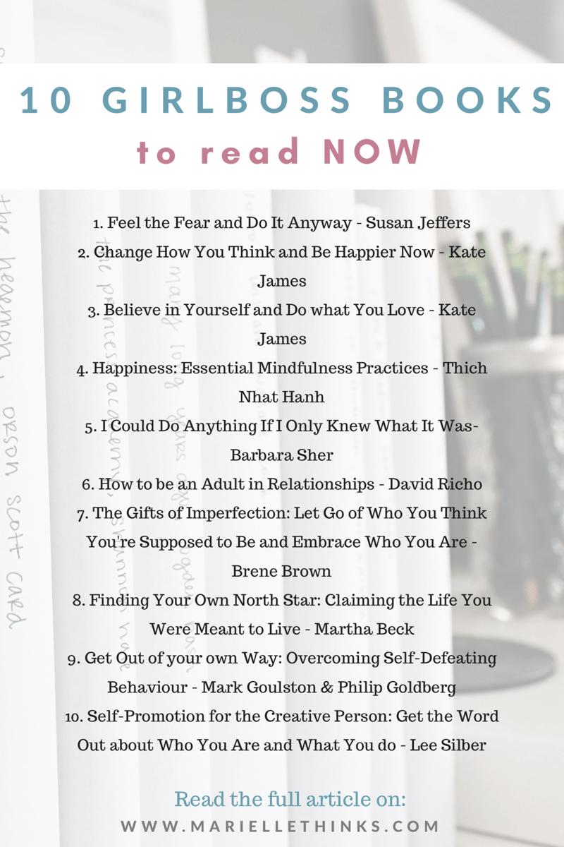 10 Girlboss books to read asap | Marielle Thinks