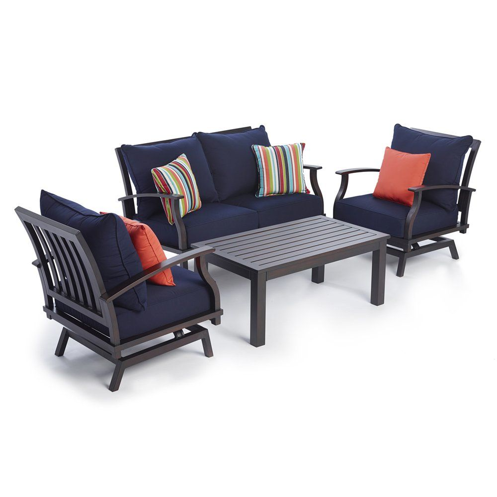 Shop allen + roth Gatewood 4Piece Conversation Set at