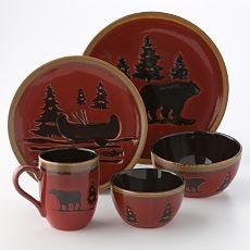 Gentil Dinnerware For The Log Cabin