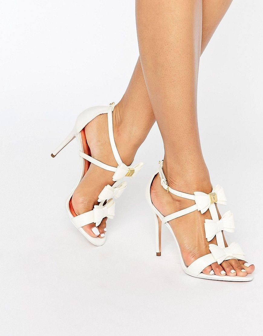 2107322b9 Ted Baker Appolini Ivory Bow Heeled Sandals – Cream