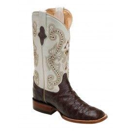 Ferrini Ladies Chocolate/Pearl Print Anteater Boots S-Toe 92393-09