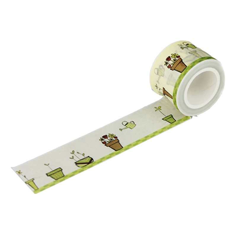 1 Pc 30mm * 7m High Quality Potted Plants Pattern Japanese Washi Decorative Adhesive Tape Diy Masking Paper Tape #Affiliate
