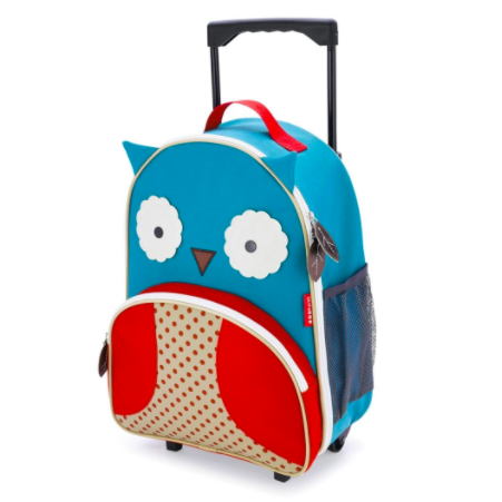 Zoo Kids Rolling Luggage Owl – baby company | Out & About ...