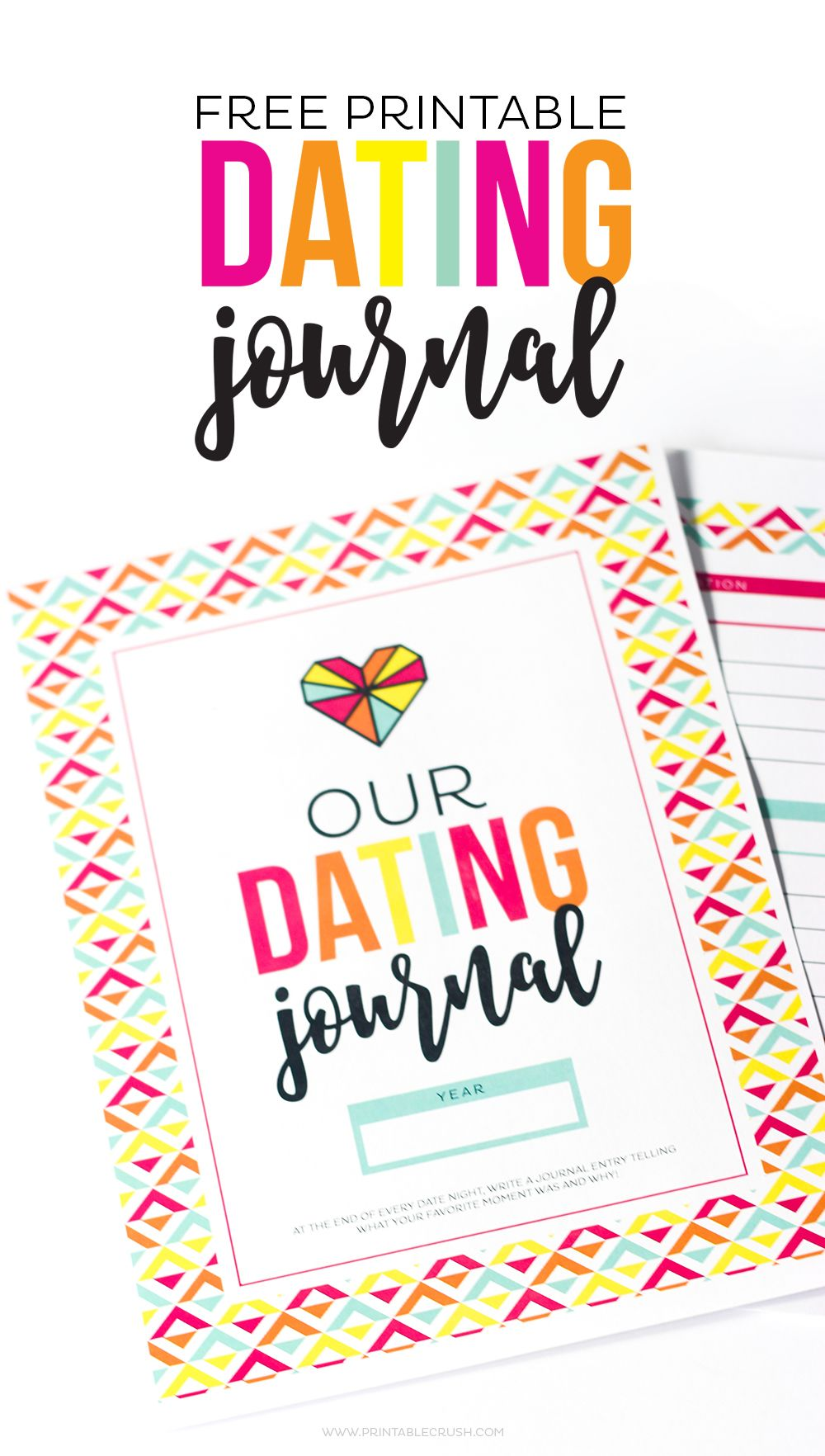 Fun and FREE Printable Dating Journal Romantic date
