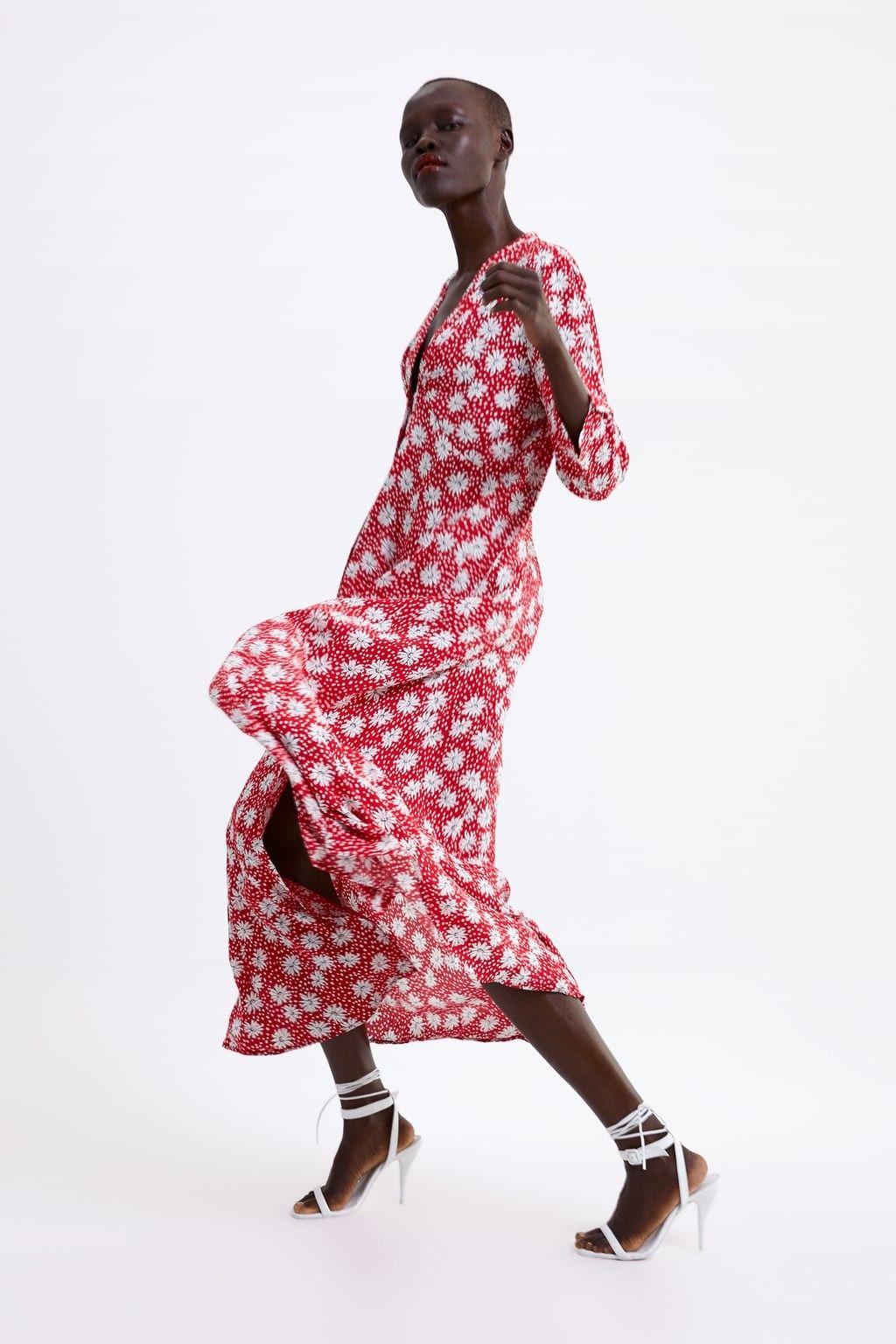 pin de konflikt en all about zara ♡ | vestido estampado