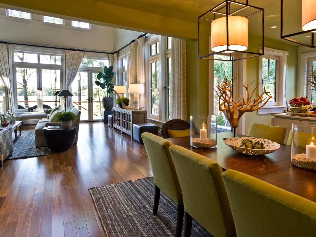An open layout throughout this Charleston home allows ...