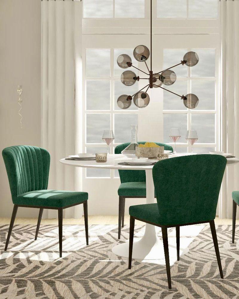 Velvet Trend Spotlight How To Design With This It Material Modsy Blog Upholstered Dining Chairs Velvet Trend Velvet Bed Frame