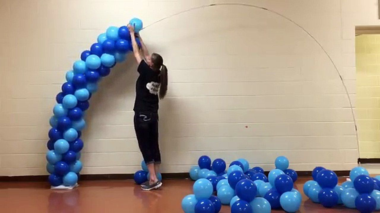Spiral Balloon Arch Tutorial Without Helium video