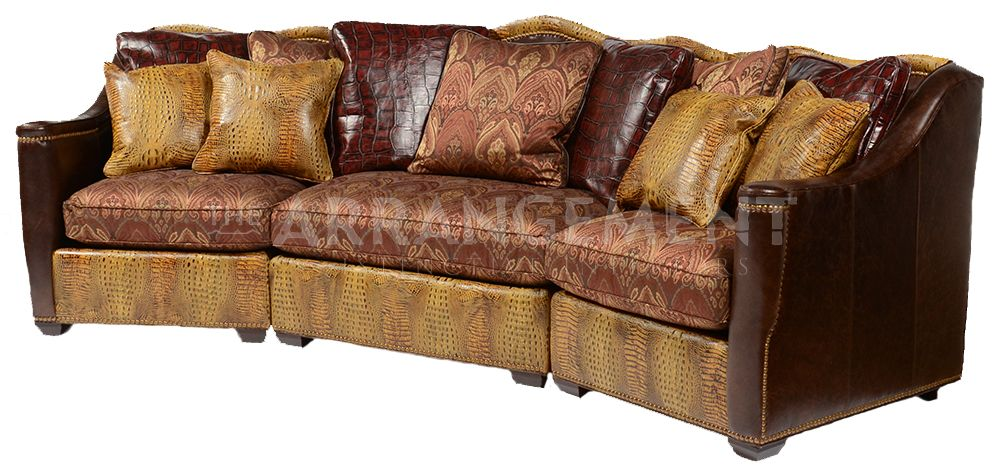 Crocodile Leather Sectional Sofa | Rustic furniture in Houston and ...