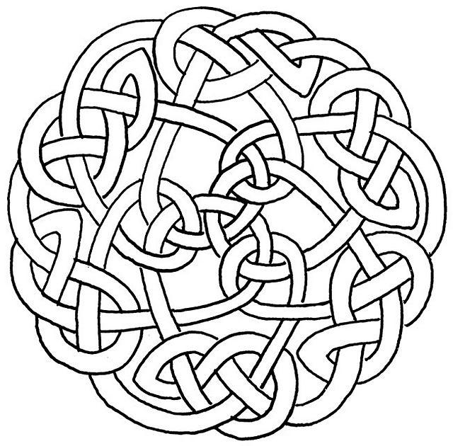 Complex Celtic Braid pattern by Nikki Roberts | Nudo, Celta y Nudo ...