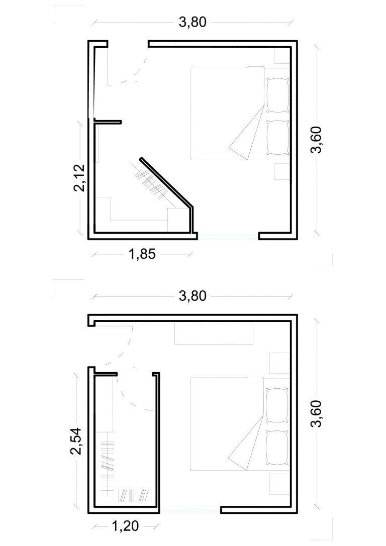 La cabina armadio. Dimensioni minime ed esempi.   Cabine ...