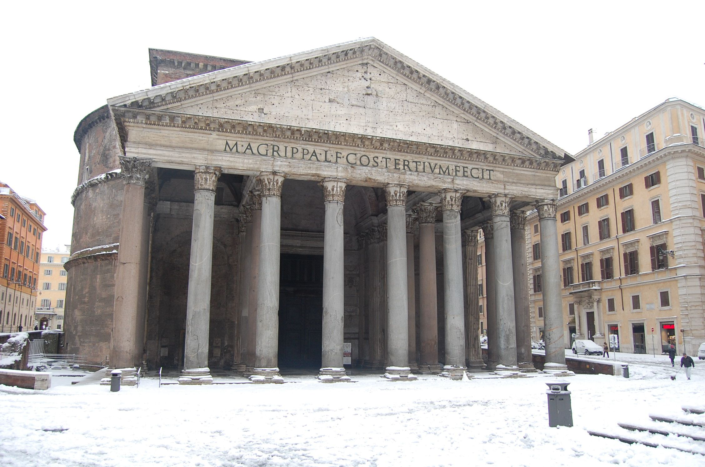 The Pantheon in the snow