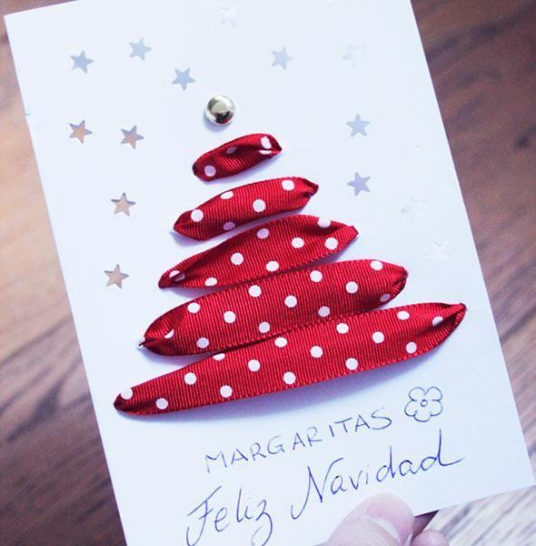 DIY Haciendo Christmas caseros con un lazo Nadal Pinterest
