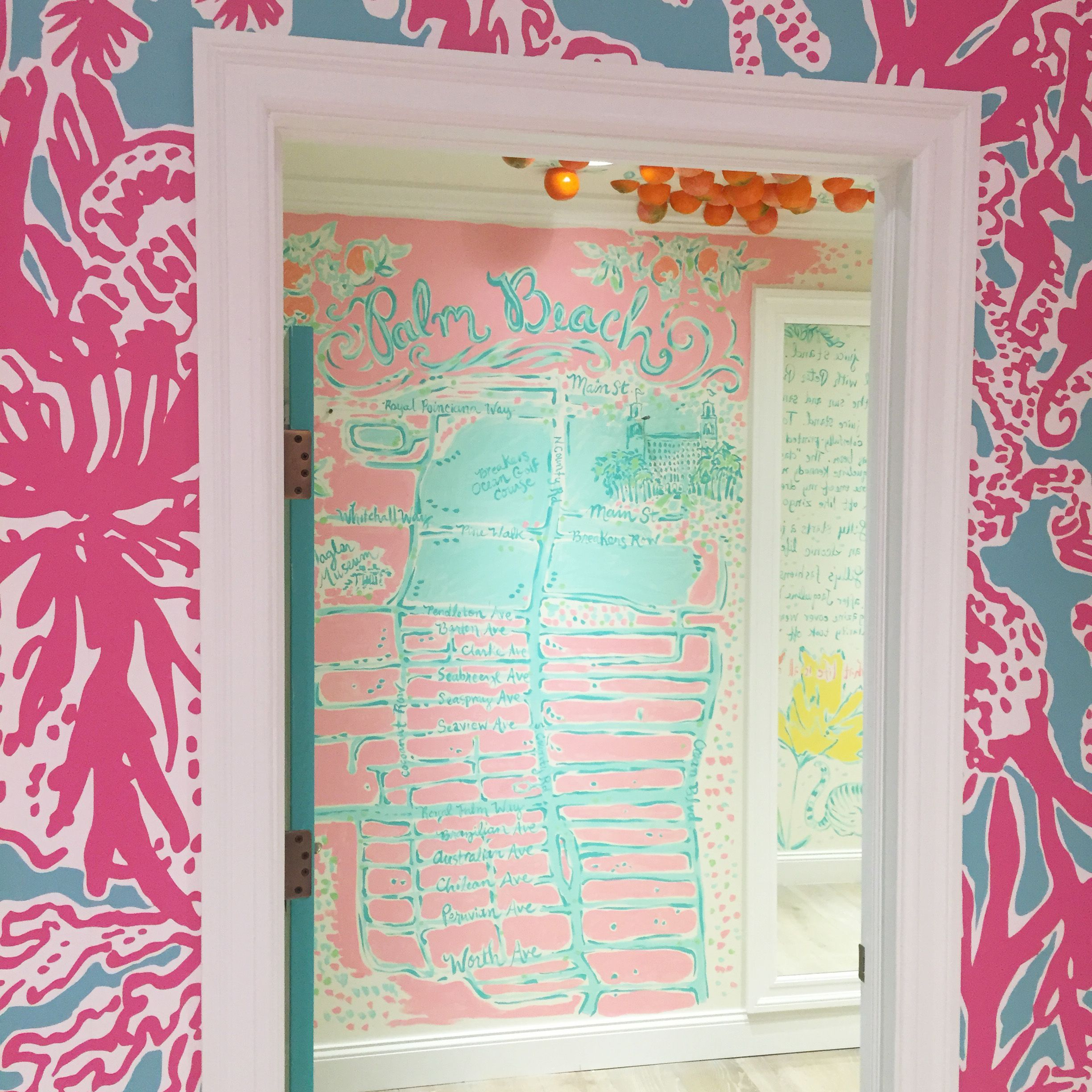 Lilly Pulitzer Palm Beach Map Dressing Room at the Palm Beach ...