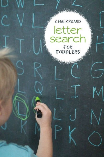 Letter Search for Toddlers (Word Search Alternative Chalkboard