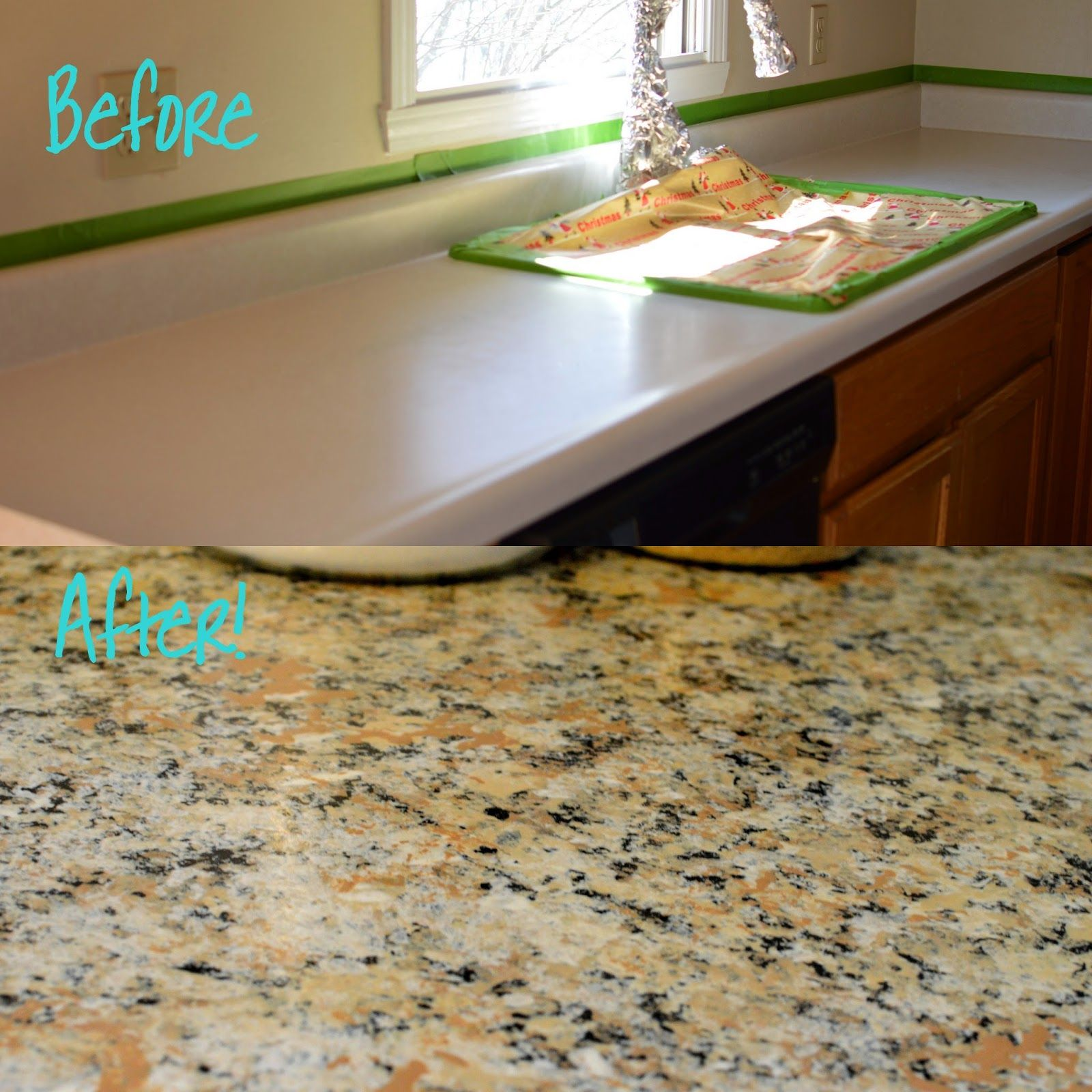 The Family Fun Spot Affordable Makeover For Kitchen Counters Kitchen Counter Kitchen Facelift Diy Kitchen