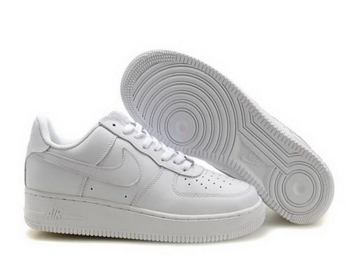 purchase cheap a7b50 7df3d plain white air force ones