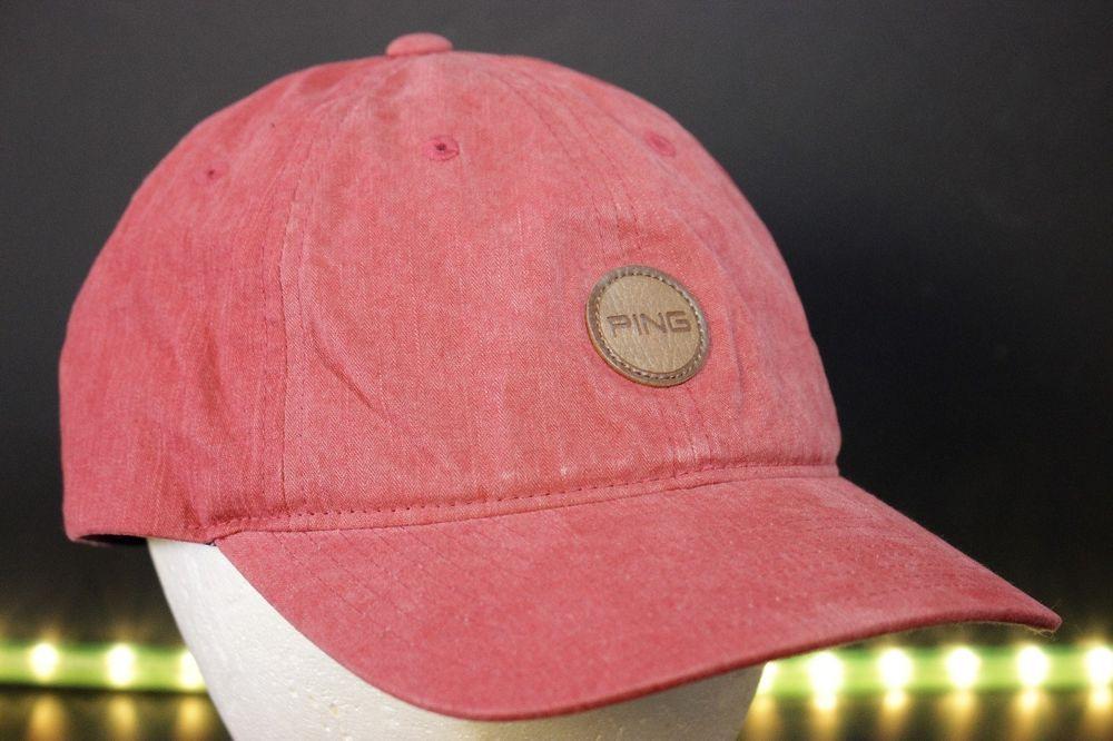 Ping Golf Hat Cap Leather Strapback Adjustable Golfing One Size  Ping   BaseballCap 5448e6899e4
