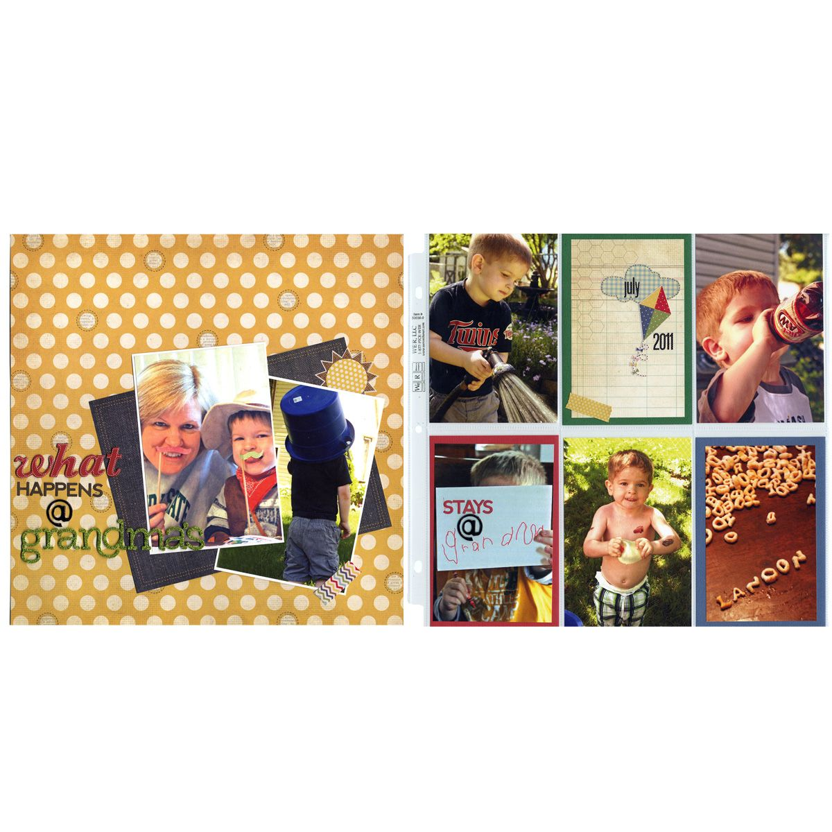 Scrapbook ideas grandma - Kid Grandma Double Page Layout Scrapbooking Grandparentsscrapbooking
