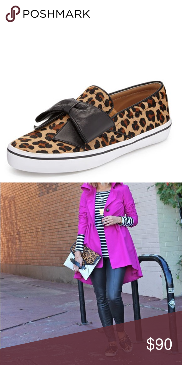 cffae3181ab4 Kate Spade Delise leopard sneakers Leopard-print calf hair gives this kate  spade new york