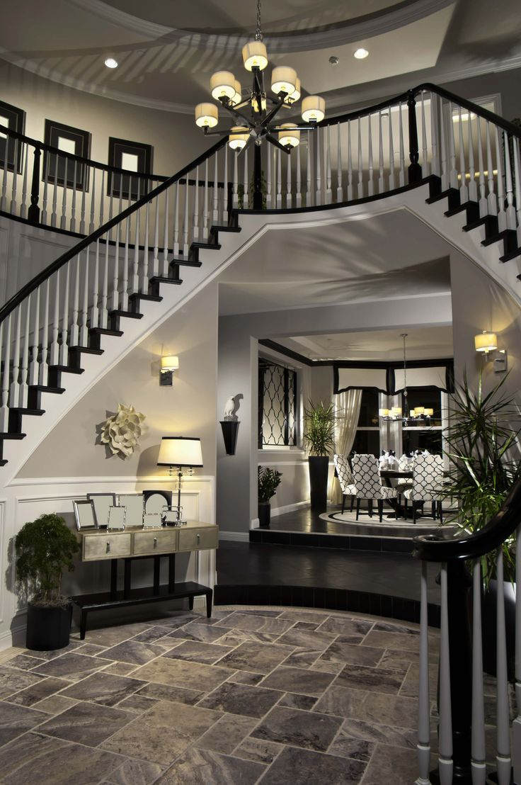 45 Custom Luxury Foyer Interior Designs   Stairs   Pinterest ...