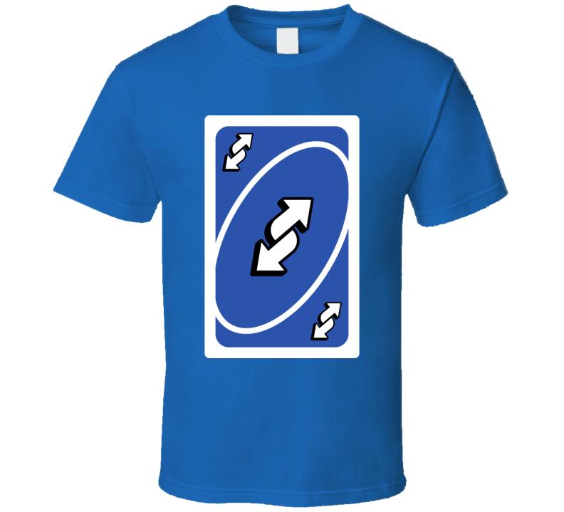 Reverse Blue Uno Card Game Fan Halloween Fancy Dress T Shirt Halloween Fancy Dress Shirts T Shirt