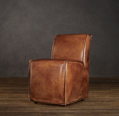 Bruno | Restoration Hardware | Leather side chair, Leather ...