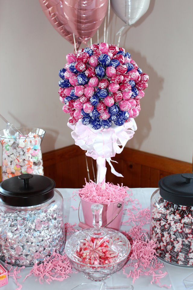 Lollipop Tree For A Baby Shower   Candy Buffet Was A Big Hit.