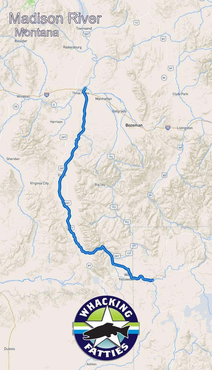 Madison River Montana Map.Madison River Montana Fly Fishing Report Check Out Whacking
