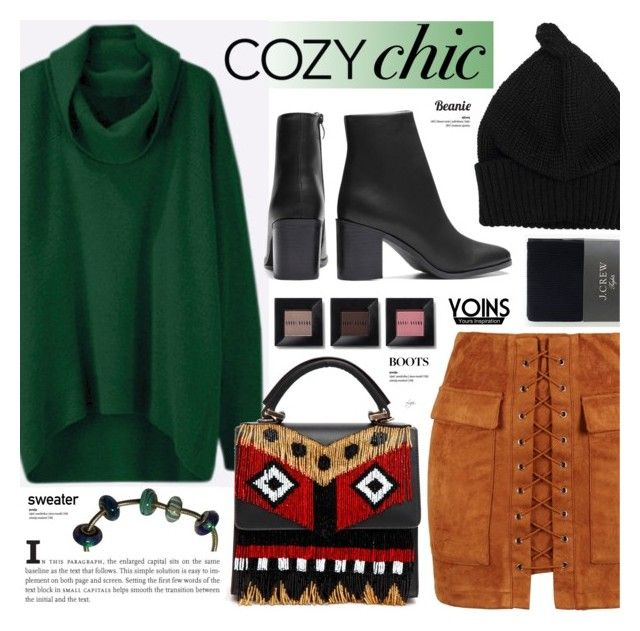 """Cozy chic - Yoins"" by cly88 ❤ liked on Polyvore featuring WithChic, Les Petits Joueurs, Bobbi Brown Cosmetics and J.Crew"