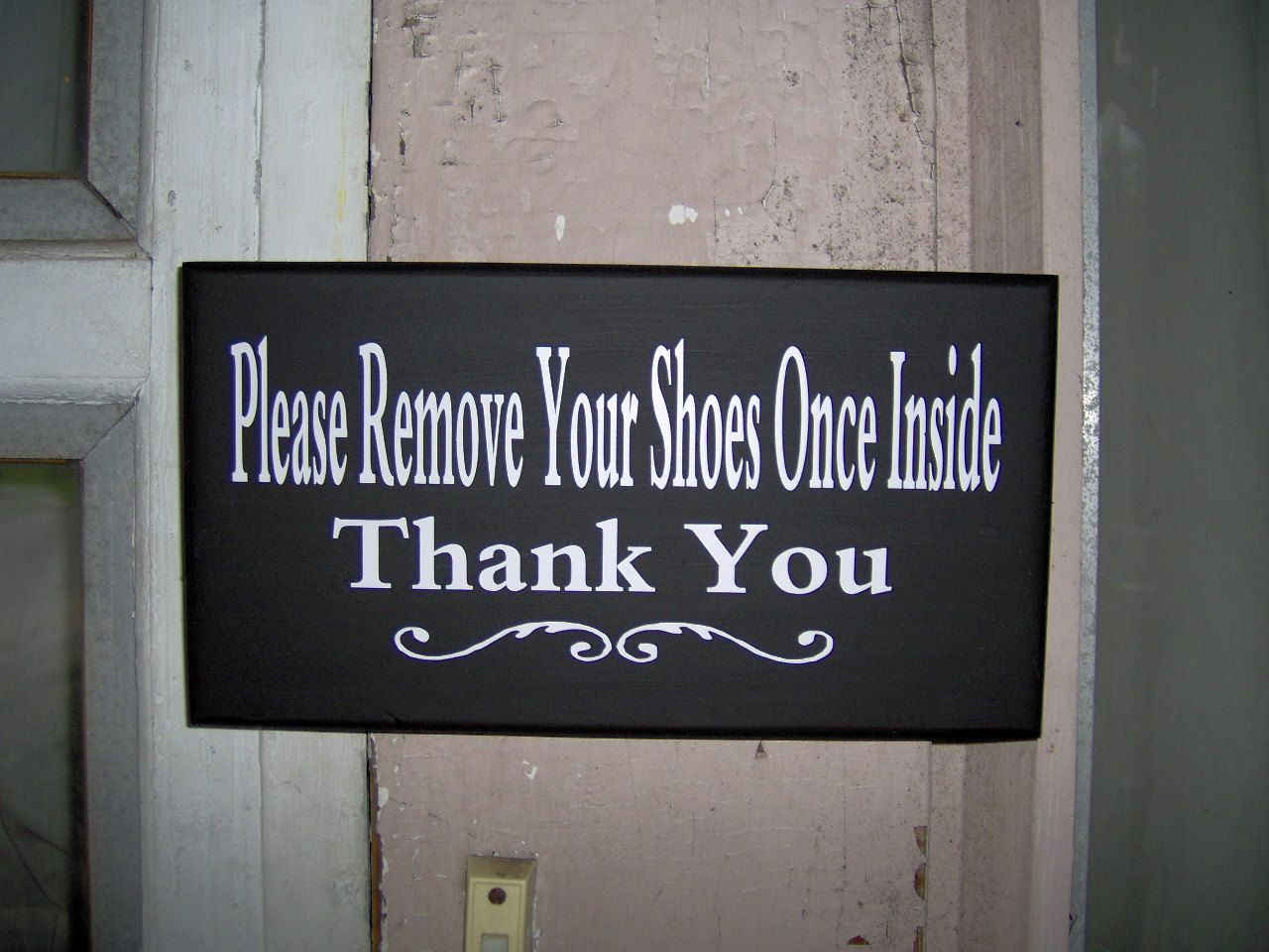 Please remove shoes once inside thank you wood vinyl sign home please remove shoes once inside thank you wood vinyl sign home decor front door signs take off shoes new mom baby shower gift for her wall rubansaba