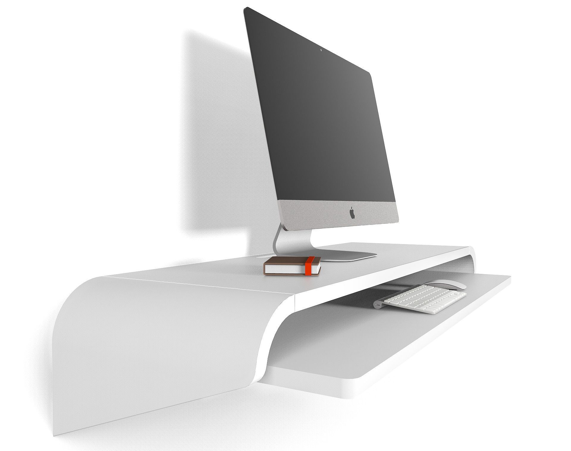 Minimal Wall Desk White Large Ideal For Home Office In Stock Discount Available 10 Use Code Save10now Wall Desk Minimal Wall Desk Floating Desk