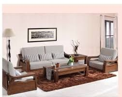 Image result for simple wooden sofa sets for living room | 1 ...