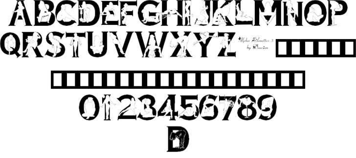 Alpha Silouette Font Family (3 styles) by Darrian Lynx ...