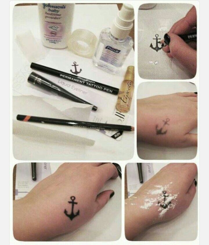 This Is Really Simple You Ll Need Transfer Paper Or Baking Paper A Soft Pencil A Bowl Of Water Washcloth Baby Pow Diy Fake Tattoo Diy Tattoo Fake Tattoos
