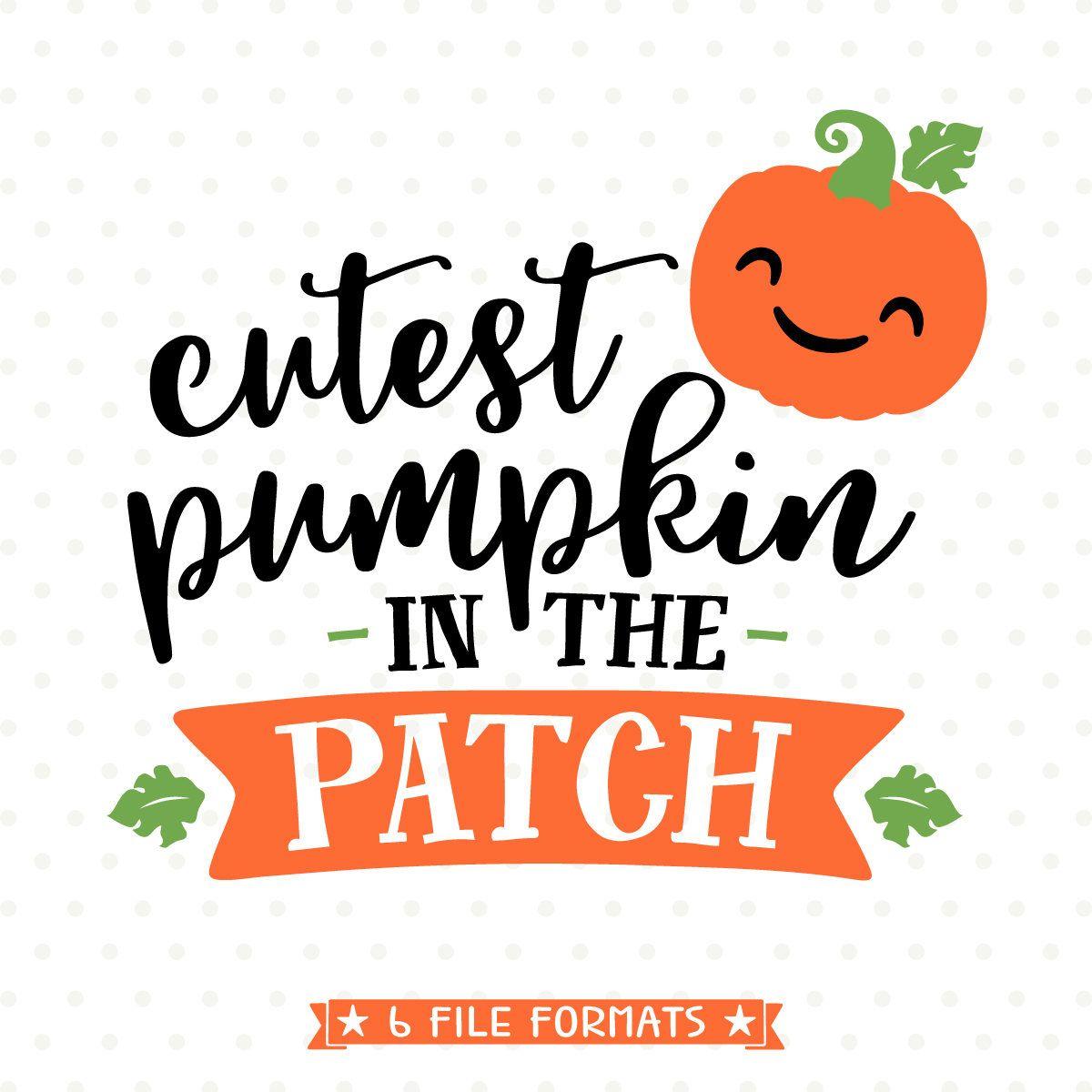 Pumpkin SVG, Halloween SVG, Cutest Pumpkin in the Patch