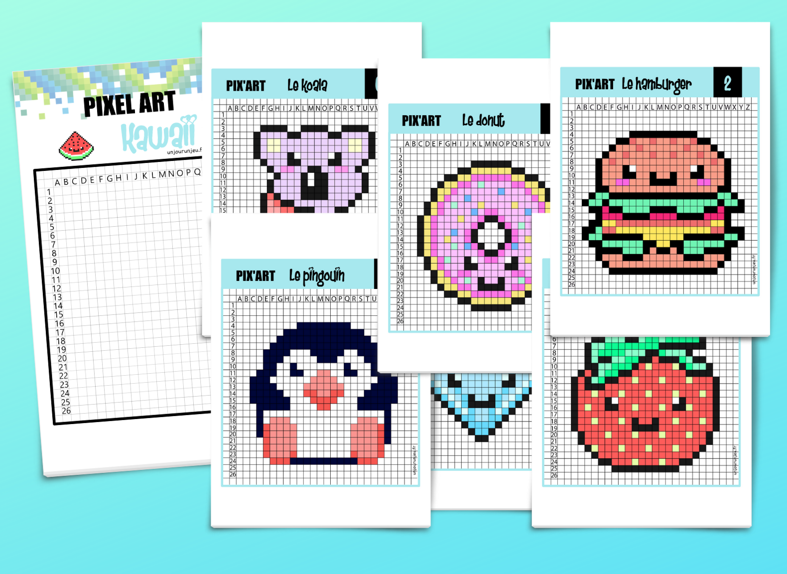 12 Modeles De Pixel Art Kawaii A Telecharger Gratuitement Pixel Art Kawaii Art Kawaii Pixel Art