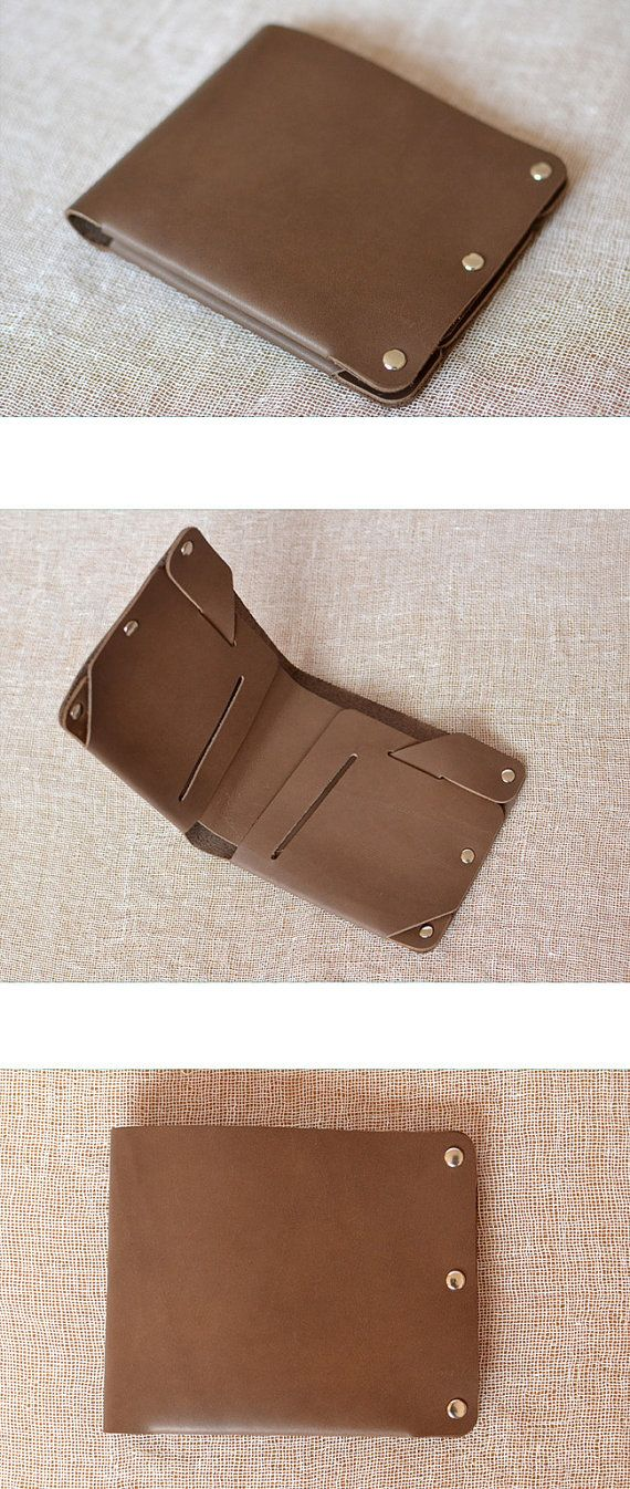 Mens Leather Wallet handmade wallet vintage Slim Bifold Billfold Minimalist leather wallet billfold Gift #N05