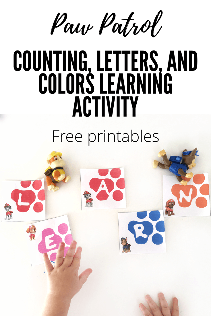 paw patrol learning activity with free printables - Free Printables For Toddlers
