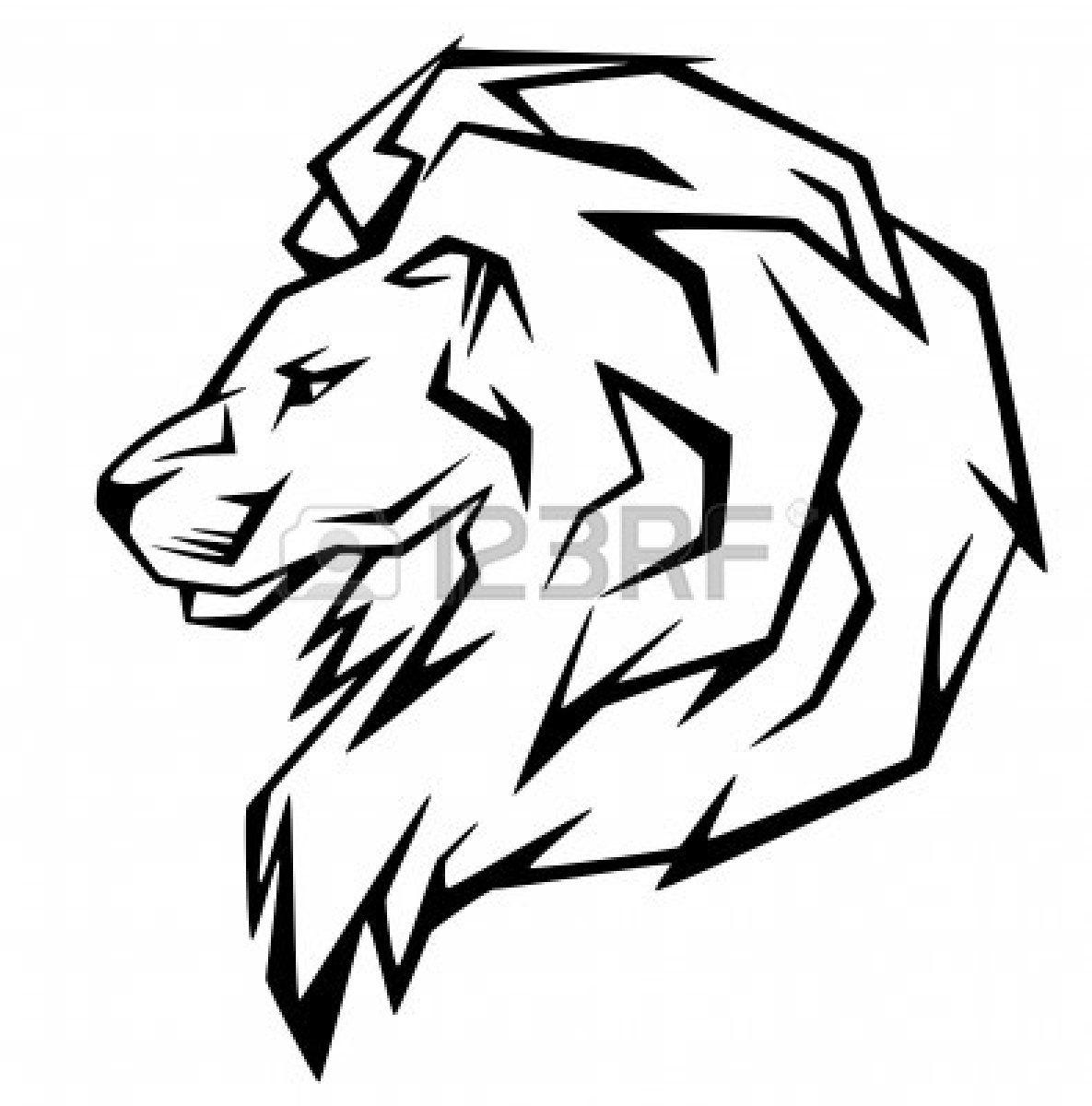 Lion Head Silhouette Clip Art Lion Head Vector