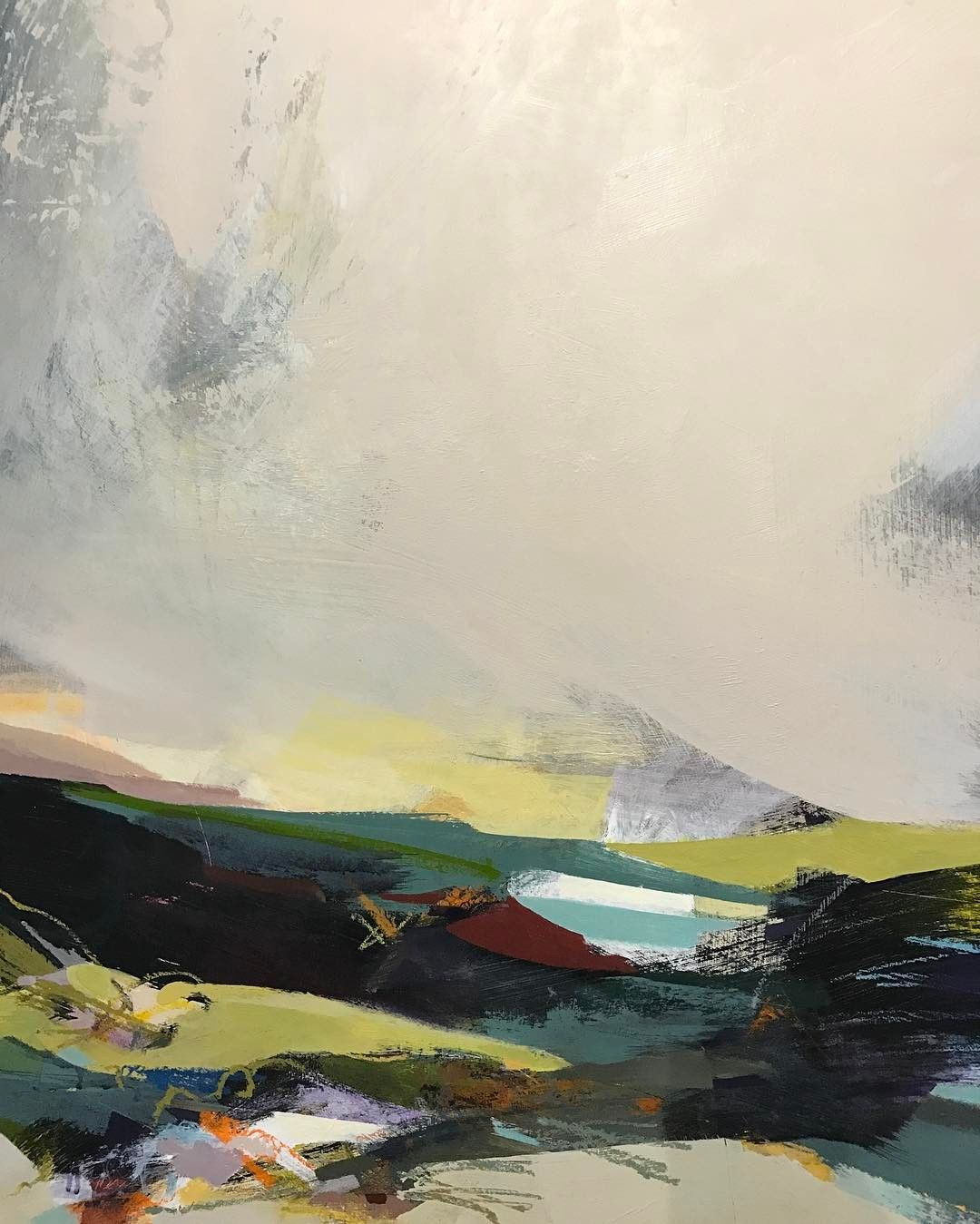 343 Likes 31 Comments Contemporary Abstracts Alicesheridanstudio On Instagram And This Is Where Abstract Landscape Paintings Acrylic Abstract Landscape