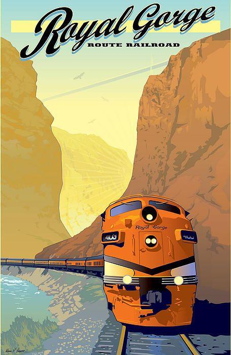 OAKLAND California SANTA FE Railroad New PinUp Train Travel Poster Art Print 099