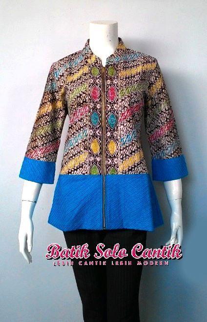 Blus Batik Modern Trendy With Batik Di 2019 Blus Pakaian Kasual