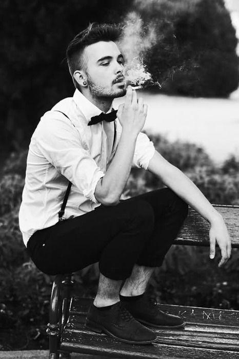 Smoke Guy  Fashion  Street  World  Guy  Men´s  Boy  Male  Moda  Bow Tie  Black  Pin  Repin