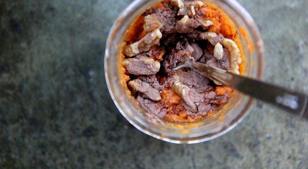 Onthego paleo sweet potato mashup mason jar snacks
