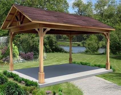 12 X 16 Cedar Gable Ramada Backyard Pavilion Outdoor Pergola Backyard Gazebo