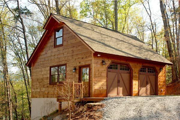 24x24 garage with loft garage the detached oversized for Log garages with loft
