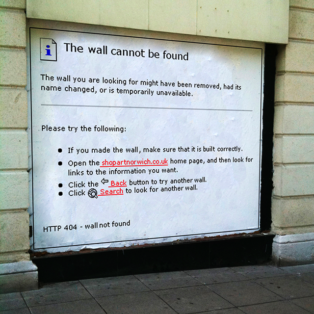 404 Wall Not Found