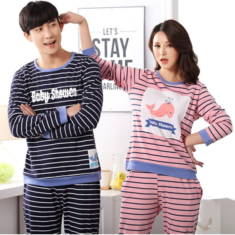 a9d5834589 Couple pajamas set 100% cotton pajamas plaid pajamas spring summer men and women  long sleeve