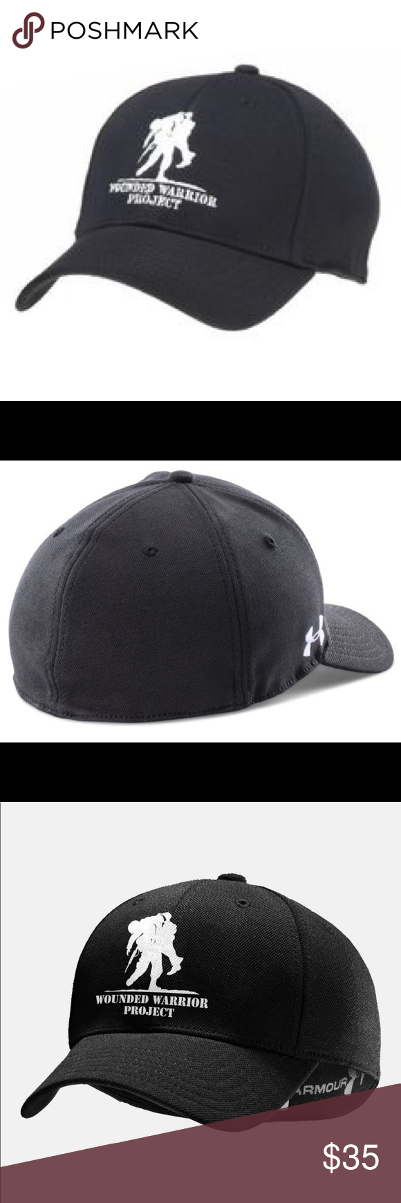Under Armour wounded warrior project UA cap hat This hat is an Official Wounded  Warrior Project Licensed product Wounded Warrior Project™ will receive 10%  ... 2aa0fa35dd5